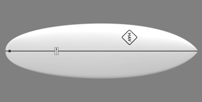 space project prf surfboard